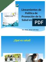 Lineam. Polit. de Ps en El Perú