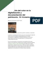 Gestión color digitalización patrimonio