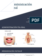 Via Administracion Oral y Bucal