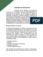 Gestion de Almacenes Automaticos.