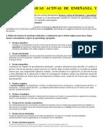 Tema III. Técnicas Activas de Enseñanza y Aprendizaje. (1)