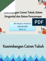 LTM_DK 3_Riki Reyhan P_1806203396_IBD B-11 (Keseimbangan Cairan Tubuh, Sistem Urogenital Dan Sistem)