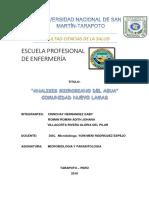 Informe Del Analisis Microbiano Del Agua (1)