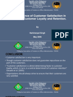 The Importance of Customer Satisfaction in Relation To