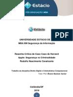 Resenha Crítica de Caso Apple - Rodolfo Cavalcante Final