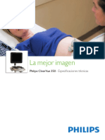 Ecografo Philips ClearVue350 Especificaciones ESP (1)