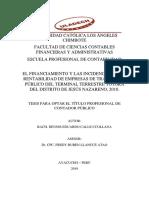 Financiamiento Rentabilidad Estrategias Empresa Calle Ccollana Dennis Eduardo