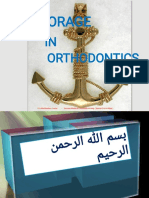 Anchorage in Orthodontic