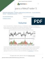 Volumes - Indicadores de Volumes - MetaTrader 5