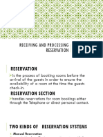 7. Receiving and Processing Reservation