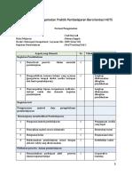 Format Lembar Pengamatan Praktik Pembelajaran Berorientasi HOTS