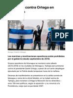 Protestan Contra Ortega en Nicaragua