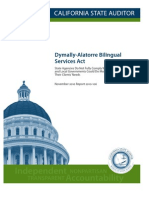 Dymally-Alatorre Bilingual Services Act Audit
