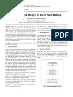 Analysis and Design of Deck Slab Bridge (IRC)