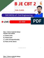 500 MCQs of Civil Engineering-Part a - Sandeep Jyani Wifistudy