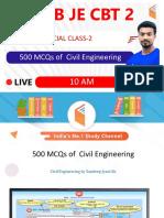 500 MCQs of Civil Engineering-Part B - Sandeep Jyani Wifistudy
