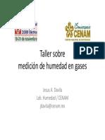 medicion de humedad de gas