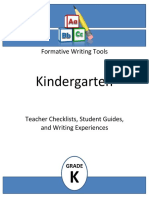 formative writing tools kindergarten