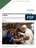 La Iglesia Abre La Puerta a Ordenar Hombres Casados en La Amazonia _ Sociedad _ EL PAÍS