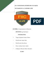 Grupo #2-Aditivos Usados Para La Construccion - Ingeniria Civil