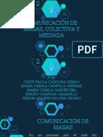 Comunicación de Masas, Mediada y Colectiva