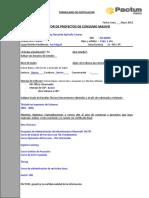 Formulario de Datos - Gestor de Proyectos