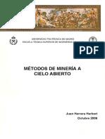 METODOS MINERIA A CIELO ABIERTO