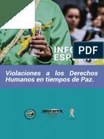 Informe Violaciones a Los Derechos Humanos en Colombia pos-conflicto