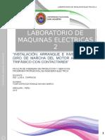 Instalación, Arranque e Inversión de Giro de Marcha Del Motor Asíncrono Trifásico Con Contactares