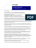 Council Directive Concerning Urban Waste Water Treatment
