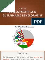 Development and Sustainable Development