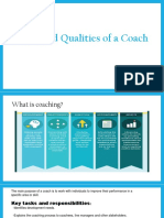 Skills and Qualities of a Coach