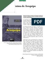 Espinoza 2018 Reseña de Historia Mínima de Arequipa