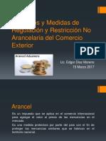 Aranceles y Medidas de Regulación y Restricción No