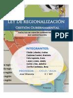 Ley de Regionalizacion
