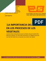 LA IMPORTANCIA DEL AGUA EN LOS PROCESOS DE LOS VEGETALES