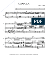 Amapola Canción para piano y voz de Luis A Calvo