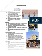 key teaching points vball