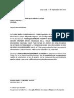 Carta de Adosamiento Obra Coronel Torres