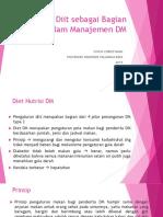Pengaturan Diit Sebagai Bagian Penting Dalam Manajemen DM