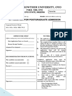 Ajayi Crowther University Pg Form