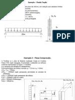Exemplo 3 – Flexão Compressão