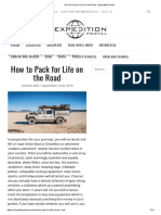 How to Pack for Life on the Road - Expedition Portal
