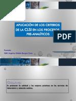 Aplicación de los criterios del CLSI en los procesos Pre-analíticos..ppt