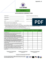 Inter-observer Agreement Form