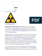 Ill Effects of Ionizing Radiation
