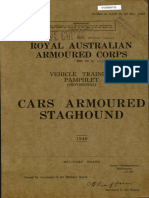 RAAC Vehicle Training Pamphlet Prov Cars Armoured Staghound 1949