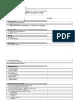 preparation checklist