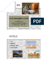 Hospitality - Hotel management and marketing system