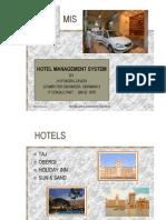 Hospitality - Hotel management and marketing system